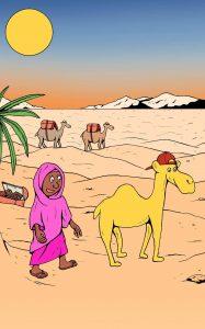 maha en de kleine kameel